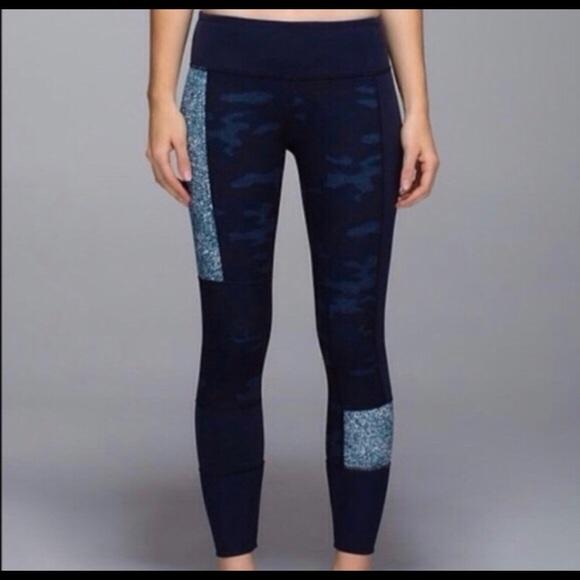 Lululemon Athletica Pants Jumpsuits Lululemon Wunder Under Sashiko Patch Camo Leggings Poshmark